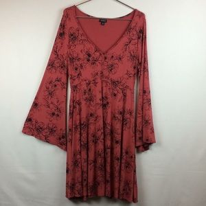 Torrid Bell Sleeve Floral Dress